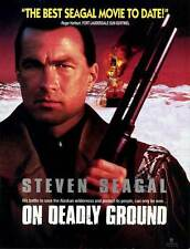 ON DEADLY GROUND Movie POSTER 27x40 B Steven Seagal Michael Caine Joan Chen John