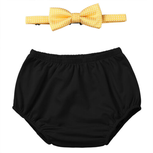 Baby Boys 1st Birthday Outfit Cake Smash Suspenders Pants Bowtie Photo Props Set