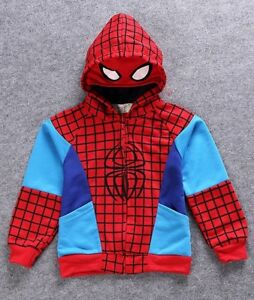 Top-Quality-Kids-Boys-Amazing-Spiderman-Marvel-Super-Heroes-Hoodie-Top-3-8-year