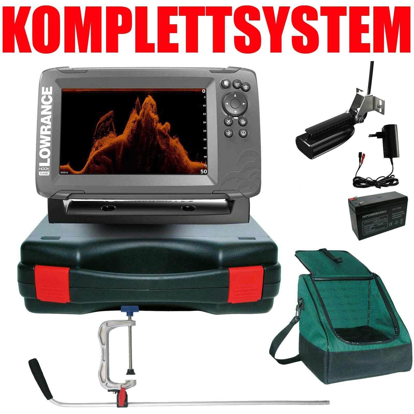 Lowrance Echolot GPS Portabel Profi Plus Hook2 7x SplitShot HDI GPS