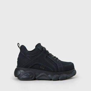 Plateau Blau 90s Nubukleder Details Buffalo zu Optik Schuhe Navy Shoes Sneaker Boots doexBrC