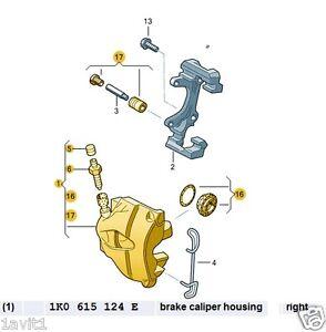 new genuine vw audi seat skoda off side front brake caliper rh ebay ie