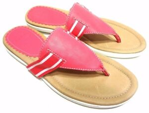 e9b676677379c Image is loading LANDS-END-WOMENS-SANDALS-FLIP-FLOPS-PINK-SHOES-