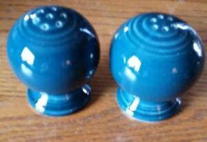 Fiesta-Fiestaware-JUNIPER-Post-86-Round-Salt-amp-Pepper-Set-Ball-Bulb-Style