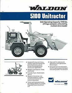 Equipment-Brochure-Waldon-5100-Unitractor-Wheel-Loader-c1988-E3359