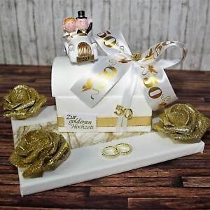 ღ Geschenk Zur Goldenen Hochzeit ღ Goldene Geld Geldgeschenk
