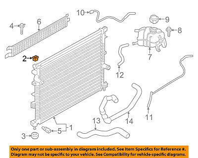 FORD OEM Radiator-Upper Insulator 6G9Z-8125-A