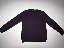 Talbots Women's 100% Cashmere Crewneck Sweater Large Purple Pullover L LS
