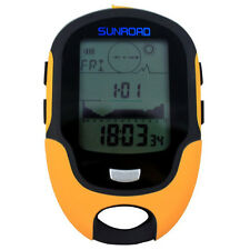 SUNROAD FR500 Multifunktions LCD Digital Hoehenmesser Barometer Kompass The A2E9