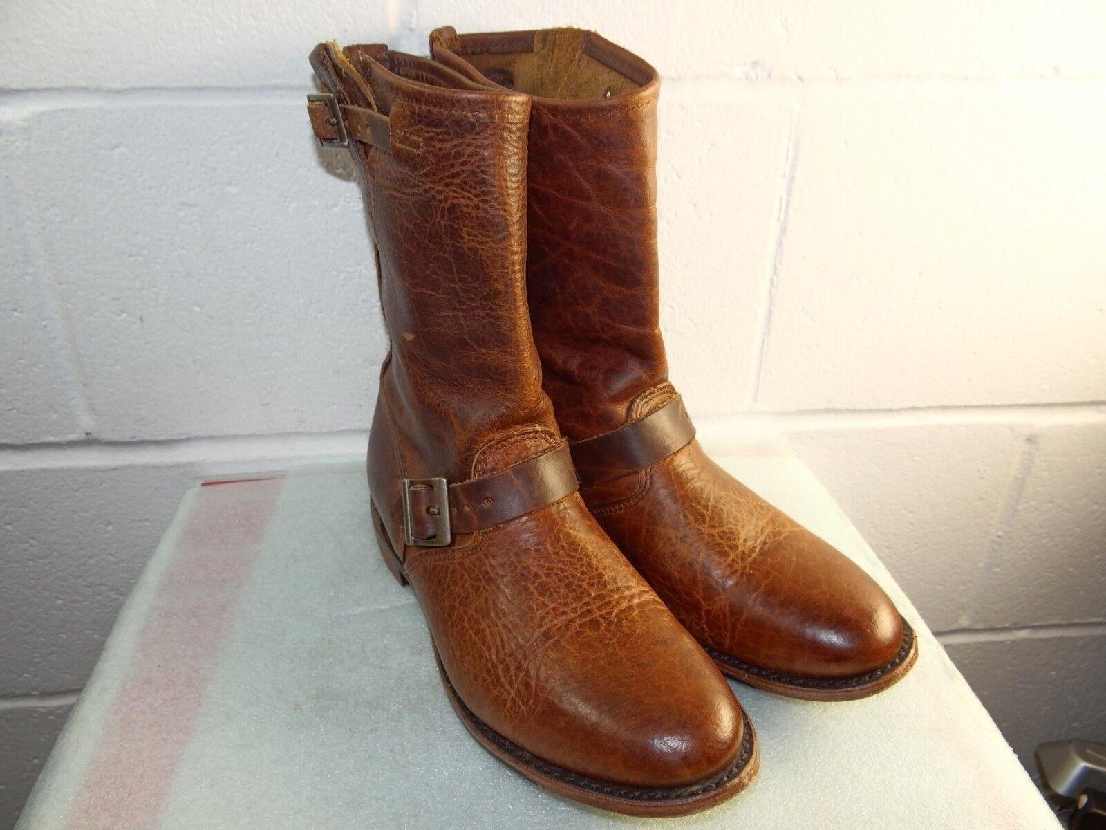 Vintage zapatos Co Veronica mitad de la pantorrilla botas de cuero marrón para mujeres tamaño 8M Hecho en EE. UU.