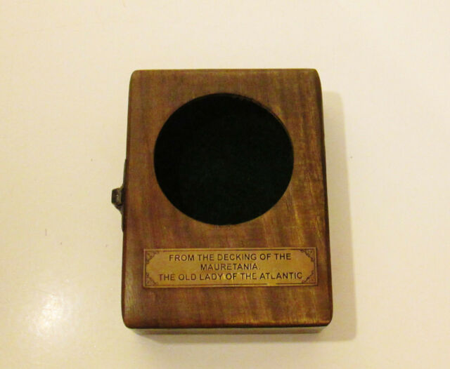 Pocket Watch Holder Wooden Box With Glass Display Cabinet Lid Interesting Plaque