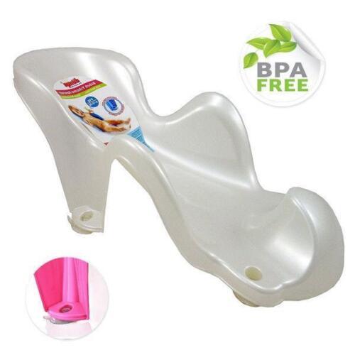 White Safe Ergonomic Newborn Baby Girl Boy Bather Bath Support Seat Cradle