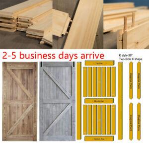 Details About 36 42x84 Rustic Reclaimed Pine Barn Wood Door Diy Interior Hardware Track Set