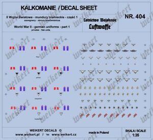 LUFTWAFFE 1:35 DECALS vol.4 Deutschen Uniformen Embleme Flak-Artillerie
