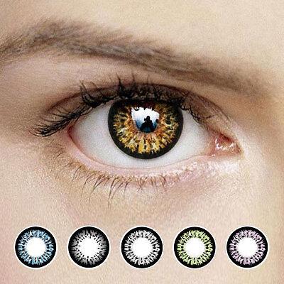 Korea B300 2 Tone Color Contact Lenses Power 1 Pair Monthly Dia. 14.5mm