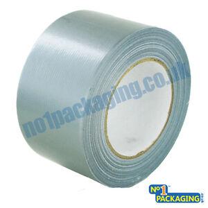 12x BIG WIDE LONG Silver Gaffer Gaffa Duck Duct Cloth Tape 72mm x 50m HEAVY DUTY