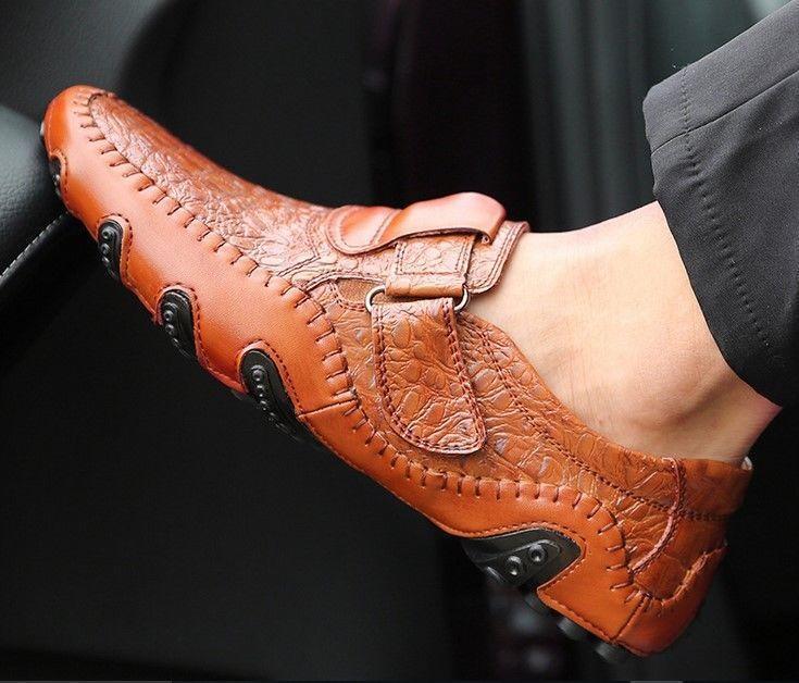 plus size Men's leather Driving Casual shoes Formal Dress US8.5-16(EUR39-48)