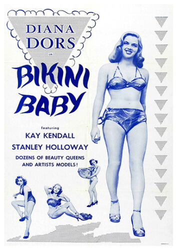 Old Diana Dors Film Poster reproduction Bikini Babe