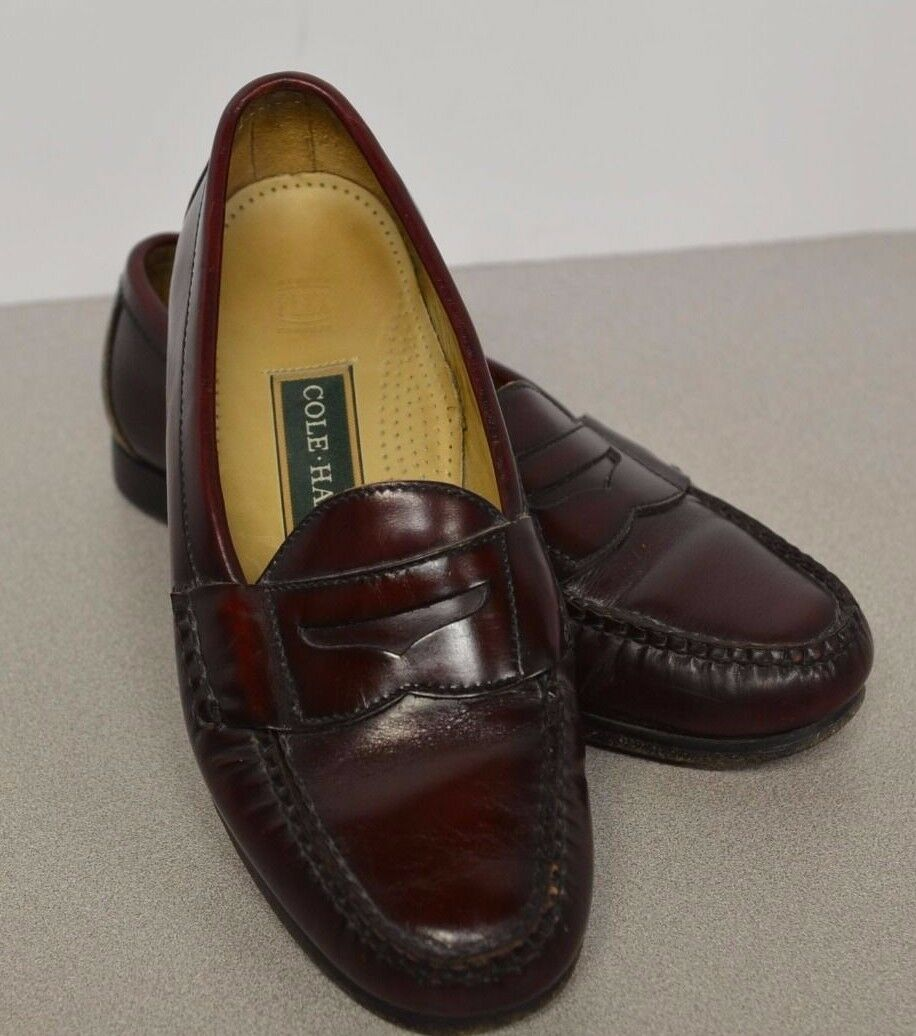 Cole Haan Men's Leather Loafers Size 8 1 2 E Memory Flex Comfort Slip On 8.5 E