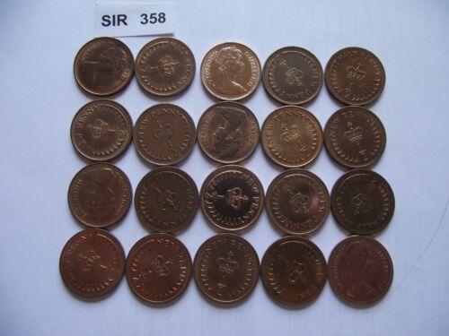 #SIR358 NICE CONDITION GREAT BRITAIN.ELIZABETH II.20 COINS@ 1//2 PENNY 1971-1980