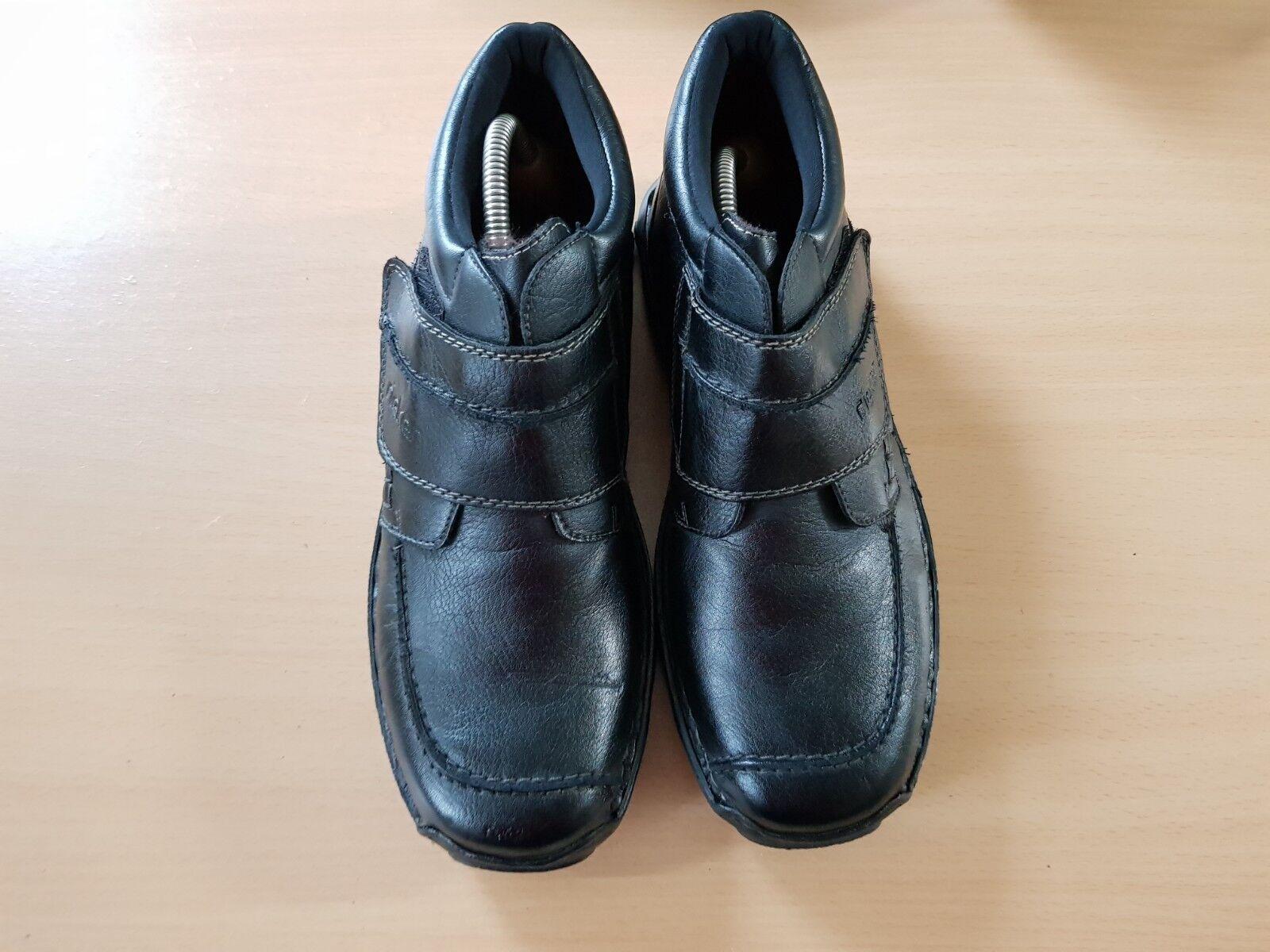 Rieker Herren Stiefel Schwarz Schuhe, Größe:42