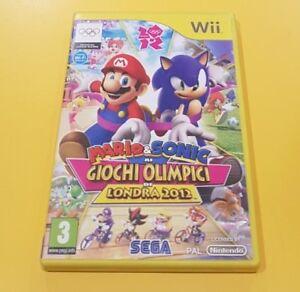 Détails Sur Mario Sonic Aux Jeux Olympique Londres 2012 Jeu Wii Version Italienne