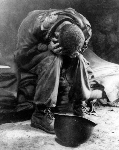 8x10 Print Historic iconic Fatigued GI Soldier Korea 1950 #WAR99