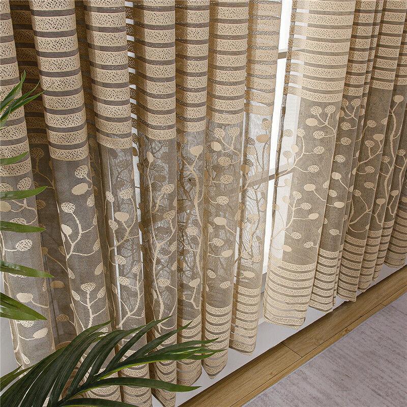 European Curtains Living Room Bedroom Luxury Sheer Tulle Curtains Sunshade
