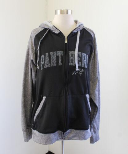 Carolina Panthers Gray Black Printed Zip Front Hoo