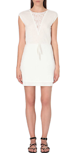 damen MAJE Rame Embroiderot Linen Dress - Größe 1   8 - BNWT - RRP