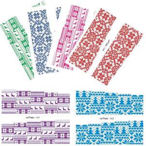 6-Sheets-LEMOOC-Weihnachten-Nagel-Wasser-Stickers-Wassertransfer-Nail-Art-Lot