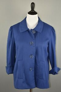 Dialogue-Women-039-s-Textured-Novelty-Button-Fully-Lined-A-Line-Jacket-Large-NEW