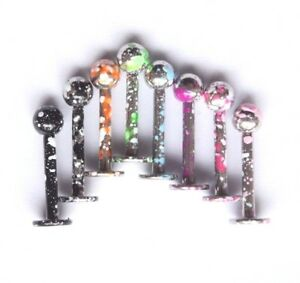 16g-Speckled-Colored-Paint-Flecked-Earring-Helix-Labret-Monroe-Lip-Stud-ring-bar