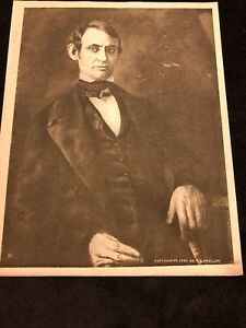 1909-Rare-Vintage-Photogravure-Print-of-President-Abraham-Lincoln-by-R-B-McClure