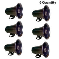 Pyle Psp8 All Weather 5'' Pa Mono Extension Horn Speaker (lot Of 6)