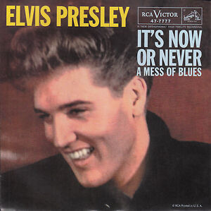 ELVIS-PRESLEY-Its-Now-Or-Never-A-Mess-Of-Blues-PICTURE-SLEEVE-RED-VINYL-NEW