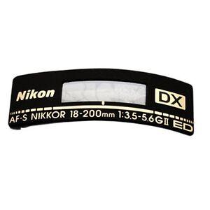 Name Plate Badge Repair Part For Nikon AF-S Nikkor 18-200mm 1:3 5