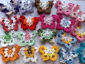 Farfalle Farfalline Uncinetto Colori Assortiti Bomboniera Ebay