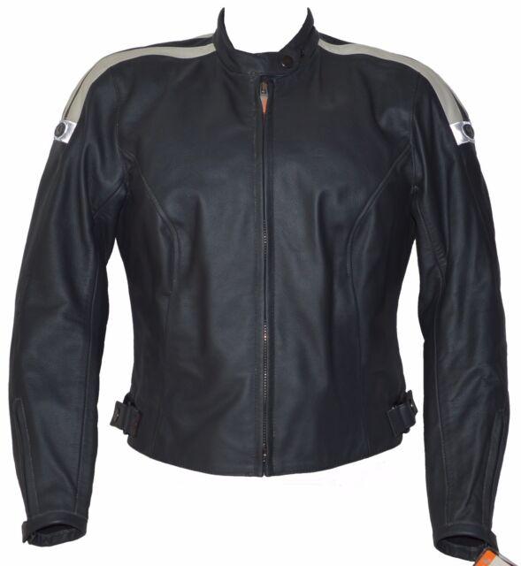 Giacca Moto Donna in Pelle CLOVER SEATTLE LADY Protezioni Omolog - Taglia L / 44