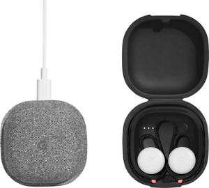 Google Assistant - Pixel Buds Headphones w/ Charging Case - Clearly White #3239