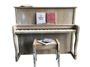 MiniMolly-Dollhouse-1-6-Barbie-Size-Piano-Furniture-Stool-Music-Instrument