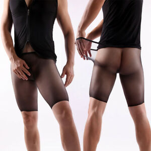4610abf9f Seamless Sheer Shiny Ultra-thin Pantyhose Men Penis Pouch Underwear ...