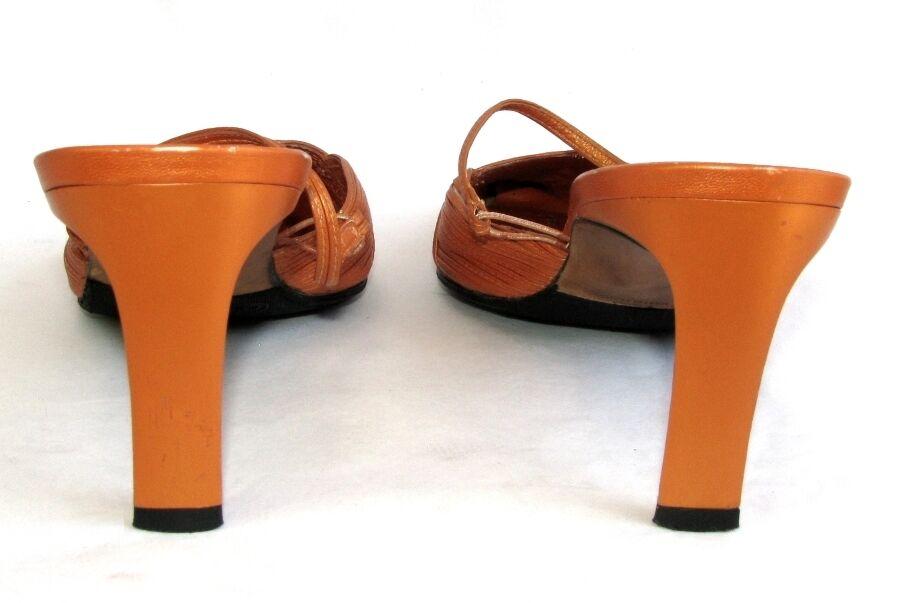 UAD MEDANI Pantoffel Absätze 7.8 cm Vollleder Vollleder Vollleder orange Perlmutt 38 4feb69