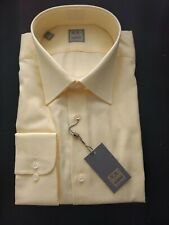 New NWT GOLD Luxury Ike Behar New York Blue Solid Dress Shirt 15.5 Long Sleev 32