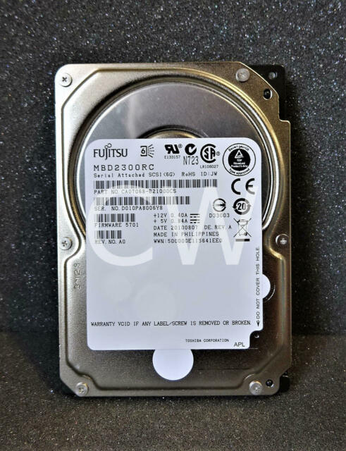 "Dell 300GB 10k 6g 2.5/"" SFF Enterprise SAS 0740Y7 740Y7"