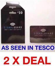 2 X Protector de Señal Bloqueo de RFID Protector de tarjeta de crédito de débito sin contacto