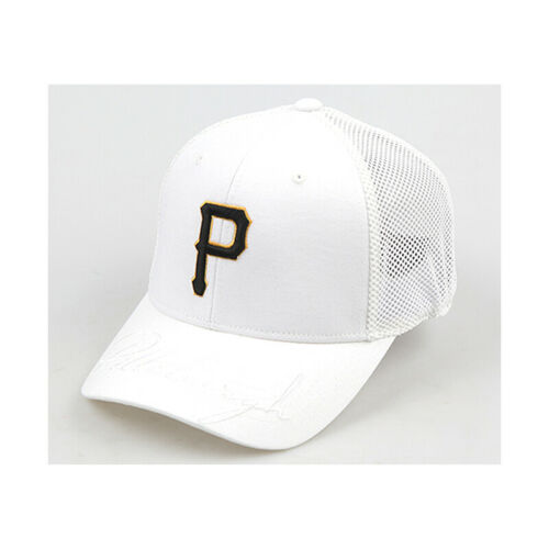 New Mens Pittsburgh P Logo Mesh Stretch Fit Cap Flexfit Baseball Embroidery Hats
