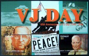 2005 neuf sans charnière Tuvalu VJ DAY Timbres feuille de 3 60TH ANV Seconde Guerre Mondiale Eisenhower Truman-afficher le titre d`origine 0QfAd7zD-07145732-283057656
