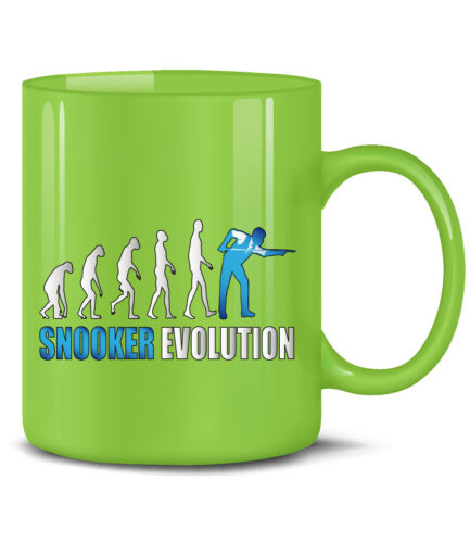 Teetasse Keramik Becher SNOOKER EVOLUTION KaffeeBecher