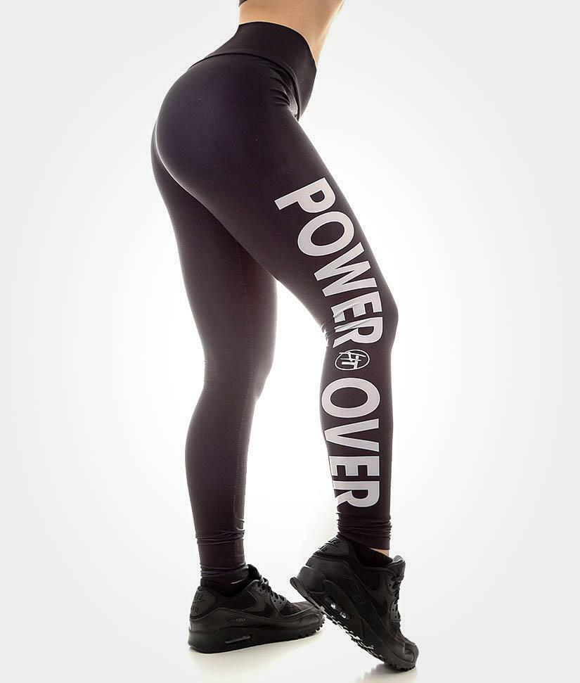 Power Over Form Fitted High Waisted JDM Car Drift Gym Womens Leggings